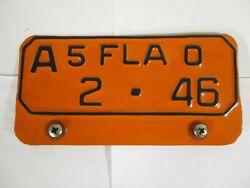 NICE 1950 Florida DUVAL CO Motorcycle  License Plate Tag