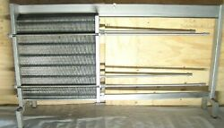 sanitary heat exchanger alfa laval 981 square ft plate & frame from dairy op