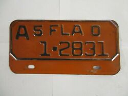 1950 Florida MOTORCYCLE  License Plate Tag REGISTERABLE