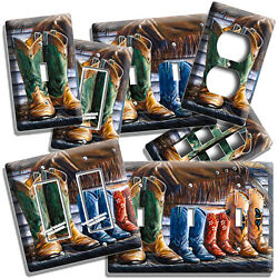 Country Family Western Colorado Cowboy Boots Lightswitch Outlet Plate Wall Decor