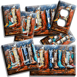 Texas Country Western Rustic Cowboy Boots Light Switch Outlet Wall Plates Decor