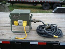 Military Surplus Tent Generator Power Distribution Box 25 Kw 60 Amp+ 50 Ft Cable
