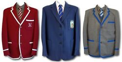 School Uniform / Boating Blazers - Wool Flannel And Wool Worsted - Larger Sizes