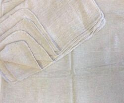 2500 Pieces Industrial Shop Rags / Cleaning Towels Natural 18x18