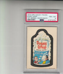 1973 Opc Wacky Packages Dopey Whip 1st Series White Back Psa 8 Pop 1