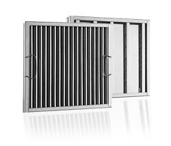 Captrate Solo Stainless Steel Baffle Restaurant Hood Filter 16 High X 20 Wide