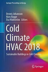 Cold Climate Hvac 2018 Hardcover Book Free Shipping!