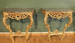 Pair Of Louis XV Style Consoles. Nineteenth Century