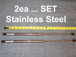 2ea 20 120 Rv Stainless Steel Gas Strut Shock Damper Spring Lift 120lb 20in Ss