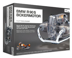 Bmw R/90-s Flat Twin Airhead Engine Model Kit With Collectorand039s Manual