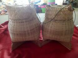 Sticky Rice Bowl Bamboo Thai Basket Home Cookware Handcraft
