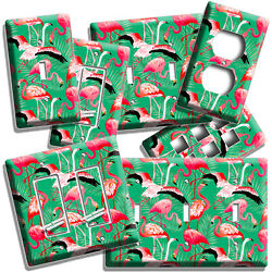 Pink Flamingo Tropical Palm Pattern Light Switch Outlet Wall Plate Room Hd Decor