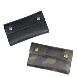 NEW[Chrome Hearts] WALLET WAVE HEAVY LEATHER TANK CAMO LEATHER JP