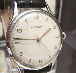 C1950and039s Swiss Jaeger Lecoultre Oversize Mans Watch Cal P478/c Serviced Working