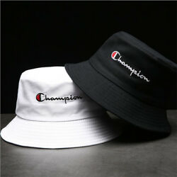Champion Bucket Cap Fisherman Hat Sun Hat Black And White Lovers Basin Hat Hot $8.95