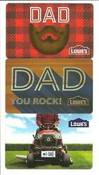 Lot 3 Different Lowes Father's Day Dad Mower Gift Cards No Value Collectible