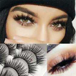 10 Pairs Thick False Eyelashes Black Terrier Smoke Makeup Cross Exaggerated