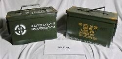 *Lot of 50* ARMY Military Surplus 50 Cal M2A1 Ammo Ammunition Cans Metal Storage