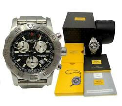 Mens Stainless Steel Breitling Colt Chronograph Ii Quartz Watch A73387 43mm