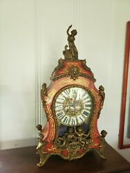 Vintage Ornate Imperial Franz Hermle Mantle Clock Brass Bronze Made In Italy