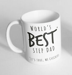 World's Best Step Dad It's Fathers Day Novelty Ceramic Cup Gift Tea Coffee Mug
