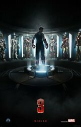 Iron Man 3 Movie Poster  11 X 17 Inches Style A Robert Downey Jr Poster