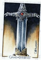 Game Of Thrones 2015 Sketch Card By David Debois The Oathkeeper