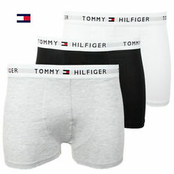 New in Box 3 Three Pack Men#x27;s Tommy Hilfiger Cotton Stretch Boxer Brief Trunks $19.99