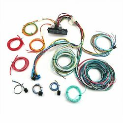12v 24 Circuit 15 Fuse Street Hot Rod Color Wiring Harness Wire Kit Universal