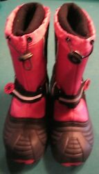 kids boots totes size 4 black pink $25.00