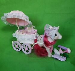 Vintage G1 My Little Pony Mail Order Mommy And Babies And Cute Baby Carrier Cart