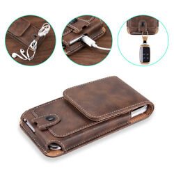 Universal Cell Phone Case Pouch Holster w Belt Loop Metal Clip for Large Phones