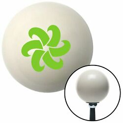 Green Fan Blades Spinning Ivory Shift Knob With 16mm X 1.5 Insert Small Block