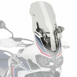 Puig Clear Touring Screen Windscreen And Lift Support Honda Crf1000l 16-19 M9156w
