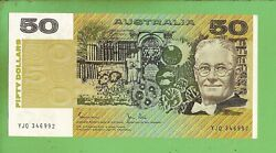 D488. 1983 Type Uncirculated Johnston / Stone Paper 50 Banknote Yjq 346992