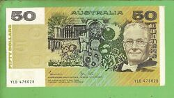 D488. 1983 Type Circulated Johnston / Stone Paper 50 Banknote Yld 476020
