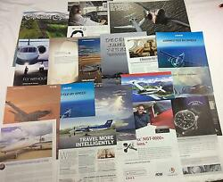 Original Print Ad 2018 Lot Of Private Plane, Jet And Related Ads Pa-1104