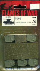 Soviet T-26 E turrents 15mm WWII SU005 Extra Armor for SBX21 T26 Russian BUNKERS