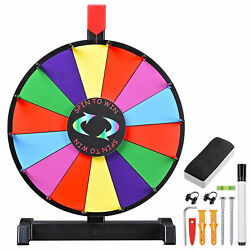 Winspin 12 Editable Color Prize Wheel Fortune Spin Game 14 Slots Tradeshow