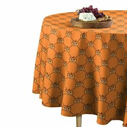 East Urban Home Scary Jack O Lanterns Round Tablecloth