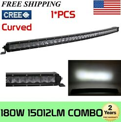 37 180w Single Row Curved Led Light Bar Offroad 4wd Atv Truck Ford 3638 234w