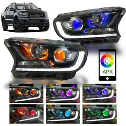 Head Light Front Lamp Projector Led F-sport Fit Ford Ranger Px2 Mk2 Xlt 2015-18