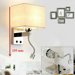 Modern Led Reading Wall Lamp Fixture Bedside Bedroom/hotel Wall Light Sconce New