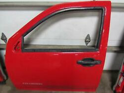 04-11 Chevy Colorado Red 9260 Left Lf Drivers Door Extended Cab W/o Sport Model