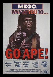 1-OF-A KIND 27x41 ROLLED ☆ 1974 MEGO TOY ☆ MINT Planet of the Apes MOVIE POSTER!