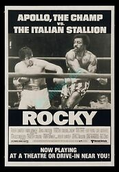 TRUE 1-OF-A-KIND! ☆ 1976 ROCKY 1-SHEET MOVIE POSTER ☆ MADE FOR WILD-POSTING ONLY