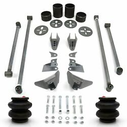 Triangulated 4 Link Kit With 2600 Lb Aier-bags And Brackets V8 Hot Rod Retro Pro