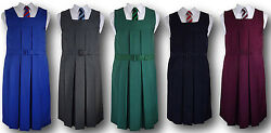 Traditional Girls School Uniform Box Pleat Gymslip - Adult Sizes And Many Colours
