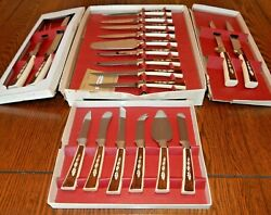 Sheffield Regent Cutlery Carving Knives England 19pc Vintage 1960's Boxed Set