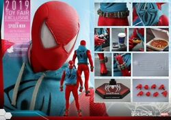 Spider-man Scarlet Spider Suit 1/6 Figure Hot Toys Sideshow Exclusive In Hand